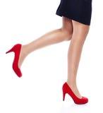 Donna sexy in tacchi alti rossi fotografia stock