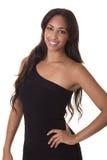 Donna sexy in un poco vestito nero. Immagine Stock Libera da Diritti