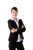 Donna sicura di affari fotografie stock