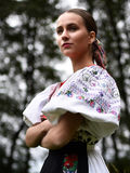 Donna slovacca di folclore Fotografie Stock Libere da Diritti