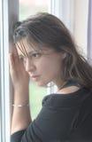 Donna sola Fotografia Stock
