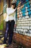 Donna sola del tossicomane fotografie stock libere da diritti
