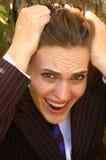 Donna sollecitata Fotografia Stock