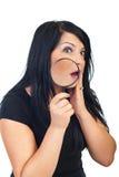 Donna sorpresa con acne fotografia stock libera da diritti