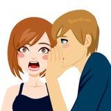 Donna sorpresa da gossip segreto royalty illustrazione gratis
