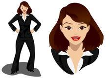 Donna sorpresa di affari Immagine Stock