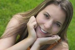 Donna sorridente Fotografia Stock