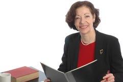 Donna sorridente 677 di affari Immagine Stock Libera da Diritti