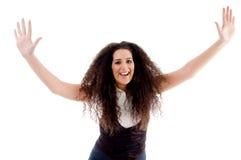 Donna sorridente che fa ballo fotografia stock libera da diritti