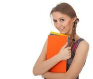 Donna sorridente dell'allievo Fotografia Stock