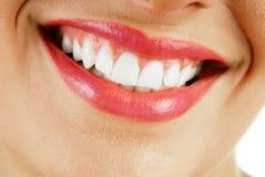 donna sorridente della bocca fotografie stock