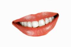 donna sorridente della bocca fotografie stock libere da diritti