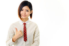 Donna sorridente di affari Fotografie Stock Libere da Diritti
