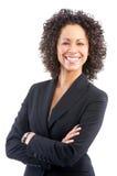 Donna sorridente di affari Immagini Stock Libere da Diritti