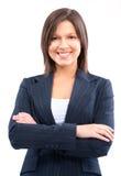 Donna sorridente di affari Immagine Stock