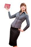 Donna sorridente di affari dei giovani riuscita Immagini Stock Libere da Diritti