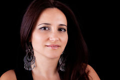 Donna sorridente di centrale-età Immagini Stock Libere da Diritti