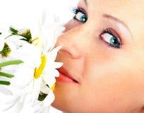 Donna sorridente di fascino Immagine Stock