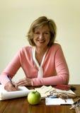 Donna sorridente di Medio Evo Fotografie Stock Libere da Diritti