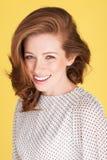 Donna sorridente felice Immagini Stock