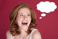 Donna sorridente felice Immagini Stock Libere da Diritti