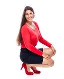 Donna sorridente sicura di affari immagini stock