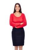 Donna sorridente sicura di affari fotografia stock