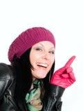 Donna sorridente in vestiti di autunno Immagini Stock Libere da Diritti