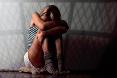 Donna spaventata Fotografia Stock Libera da Diritti