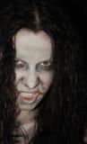 Donna spaventosa Immagine Stock