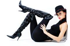 Donna splendida alla moda Immagine Stock Libera da Diritti