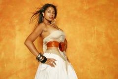 Donna splendida dell'afroamericano immagine stock libera da diritti