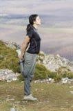 Donna sportiva esaurita Fotografie Stock