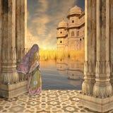 Donna su Gange Immagini Stock Libere da Diritti