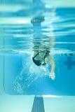 Donna subacquea Fotografia Stock