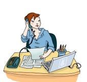Donna sul lavoro illustrazione di stock