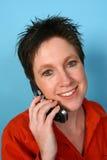 Donna sul telefono immagine stock libera da diritti