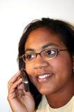 Donna sul telefono delle cellule Fotografie Stock Libere da Diritti
