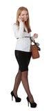 Donna sul telefono mobile Fotografia Stock