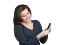 Donna sul telefono mobile Fotografia Stock Libera da Diritti
