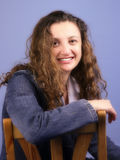 Donna sull'azzurro Immagine Stock Libera da Diritti