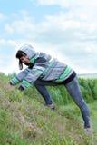 Donna sulla montagna Immagini Stock Libere da Diritti