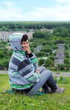 Donna sulla montagna Immagine Stock Libera da Diritti
