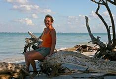 Donna sulla spiaggia Immagine Stock Libera da Diritti