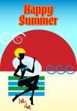 Donna sulla spiaggia di estate Fotografia Stock Libera da Diritti