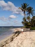 Donna sulla spiaggia tropicale Immagini Stock Libere da Diritti