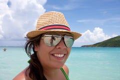 Donna sulla vacanza Fotografia Stock Libera da Diritti