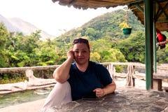 Donna sulla vacanza fotografia stock