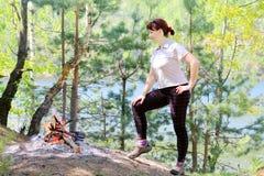 Donna sulla vacanza Immagini Stock Libere da Diritti