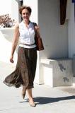Donna sulla via Immagini Stock Libere da Diritti